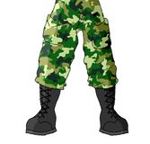 Leg soldier Royalty Free Stock Photography