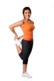 Leg Stretching Fitness exercise royalty free stock image