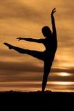 Leg up silhouette dance Stock Image