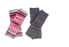 Leg Warmers Isolated on White #2. Two pairs of Leg Warmers Isolated on White #2 royalty free stock photography