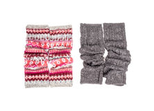 Leg Warmers Isolated on White #1. Two pairs of Leg Warmers Isolated on White #1 royalty free stock photos