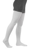 Leg in white tights Royalty Free Stock Photo