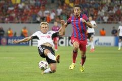 Lega dei campioni: Steaua Bucarest - Legia Varsavia Fotografia Stock