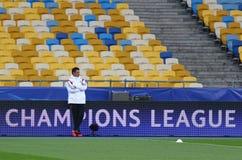 Lega di campioni di UEFA Dynamo Kiev v Benfica: addestramento della pre-partita Fotografia Stock Libera da Diritti