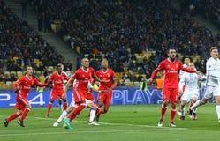 Lega di campioni di UEFA: FC Dynamo Kyiv v Benfica Fotografie Stock