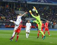 Lega di campioni di UEFA: FC Dynamo Kyiv v Benfica Fotografie Stock Libere da Diritti