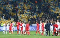 Lega di campioni di UEFA: FC Dynamo Kyiv v Benfica Immagine Stock