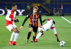 Lega di campioni di UEFA: Šakhtar v Feyenoord Immagini Stock Libere da Diritti