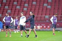 Lega 2015 di europa dell'UEFA finale: Corso di formazione Immagine Stock