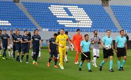 Lega di europa dell'UEFA: Olimpik Donec'k contro il PAOK Fotografia Stock
