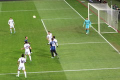 Lega di europa inter contro Neftchi Bacu 2-2 Immagini Stock Libere da Diritti