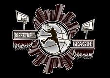 Lega di pallacanestro di logo illustrazione di stock