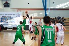 Lega di pallacanestro europea della gioventù Fotografia Stock