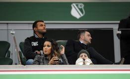 Lega extra Legia Varsavia Jagiellonia Bialystok di T-Mobile immagine stock