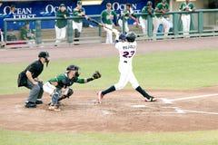 Lega minore Jose Pujols Lakewood Blueclaws del gioco di baseball Immagine Stock