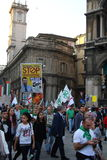 Lega Nord Milan October 18, 2014 Fotografia Stock