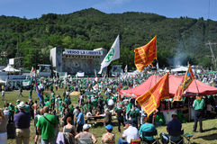 Lega Nord (Nordliga) Party-Jahresversammlung Lizenzfreies Stockbild