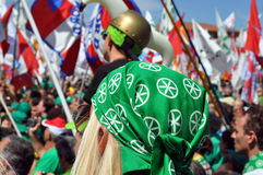 Lega Nord (Nordliga) Party-Jahresversammlung Stockfotos