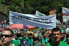 Lega Nord (Nordliga) Party-Jahresversammlung Lizenzfreies Stockfoto