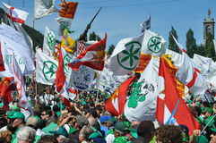 Lega Nord (Northern League) party annual meeting Stock Images