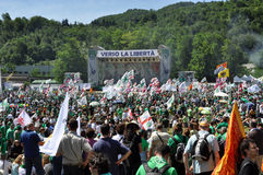 Lega Nord (Northern League) party annual meeting Stock Photos