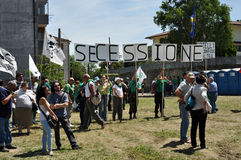 Lega Nord (Northern League) party annual meeting Stock Image