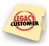Legacy Customer Words Stamped Folder Loyal Buyer Client File Stock Image