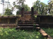 Ancient Legacy of Ruins in Barandikovil. The legacy of ruins that is founded in Awissawella Thalduwa area which is having very long history and a beautiful story stock image