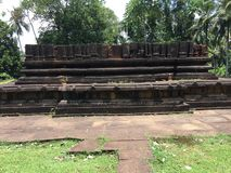 Legacy of Ruins in Barandikovil. The legacy of ruins that is founded in Awissawella Thalduwa area which is having very long history and a beautiful story behind royalty free stock images