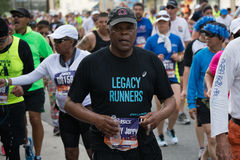 Legacy runner participating in the 30th LA Marathon Edition Stock Photography