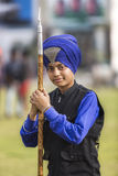 Legacy. A sikh martial art performer  gatka player  - a worriar in making Stock Photo