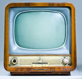 Legacy Soviet Television Set. A close up of an old soviet television set Stock Photography
