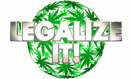 Legalícelo uso medicinal del pote de la marijuana Foto de archivo