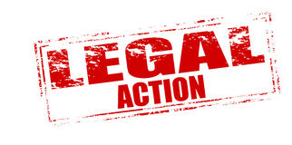 Legal action Stock Image
