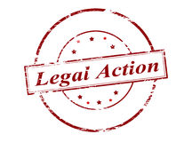 Legal action. Rubber stamp with text legal action inside,  illustration Stock Photos
