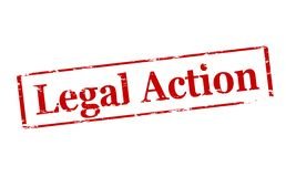 Legal action. Rubber stamp with text legal action inside,  illustration Royalty Free Stock Photography
