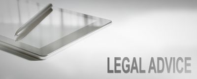 LEGAL ADVICE Business Concept Digital Technology. Graphic Concept Stock Photography