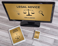 Legal advice concept on different devices Royalty Free Stock Photo
