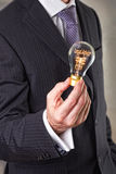 Legal Advice Concept. In a filament lightbulb Stock Photo