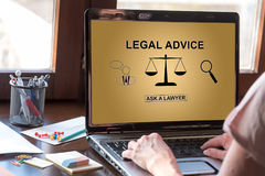 Legal advice concept on a laptop screen Royalty Free Stock Images