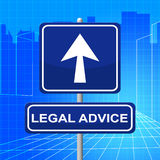 Legal Advice Means Pointing Sign And Legally Stock Photography