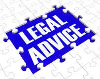 Legal Advice Puzzle Showing Attorney Counseling Stock Photo
