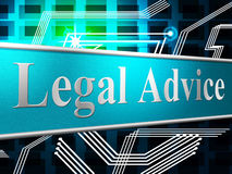Legal Advice Represents Knowledge Assistance And Justice Stock Image