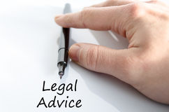 Legal advice text concept Royalty Free Stock Images
