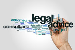 Legal advice word cloud Stock Photography
