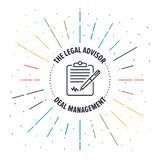 Legal Advisor Badge Icon. A vector illustration of sign note icon on a white background Royalty Free Stock Photo