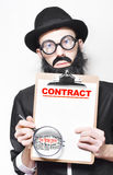 Legal Advisor Warning About Signing House Contract Royalty Free Stock Images