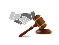 Legal agreement handshake concept Stock Photography