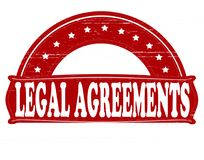 Legal agreements. Stamp with text legal agreements inside,  illustration Stock Image