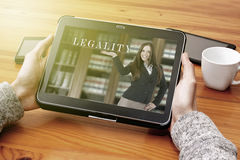 Legal aid online Stock Images